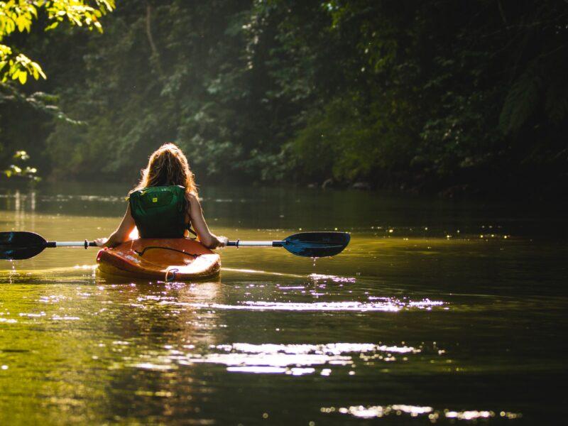 Person im Kayak